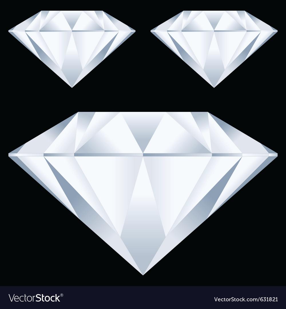Diamonds over black background vector | Price: 1 Credit (USD $1)