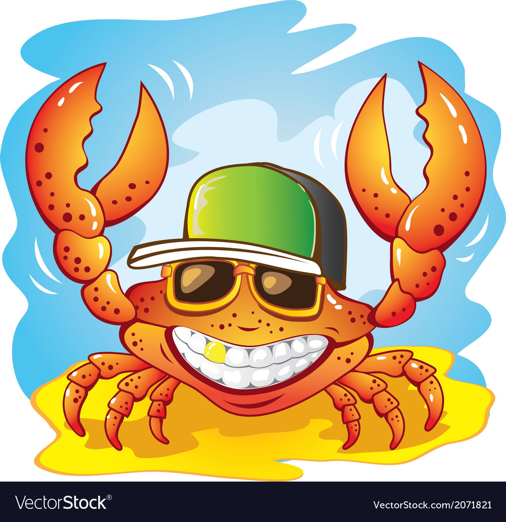 The funny crab vector | Price: 1 Credit (USD $1)