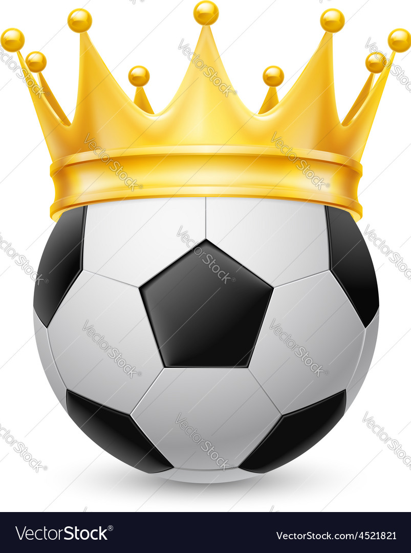 Gold crown on soccer ball vector | Price: 1 Credit (USD $1)