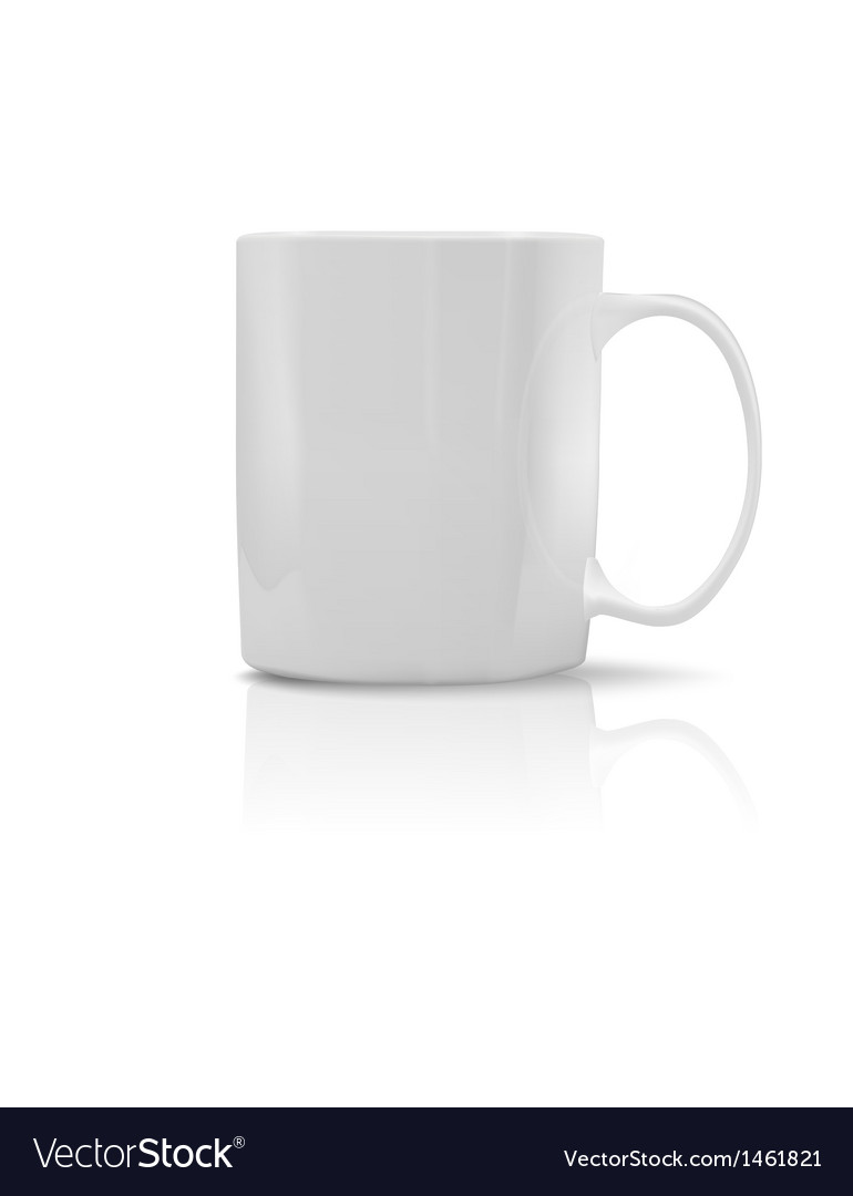 Photorealistic white cup vector | Price: 1 Credit (USD $1)