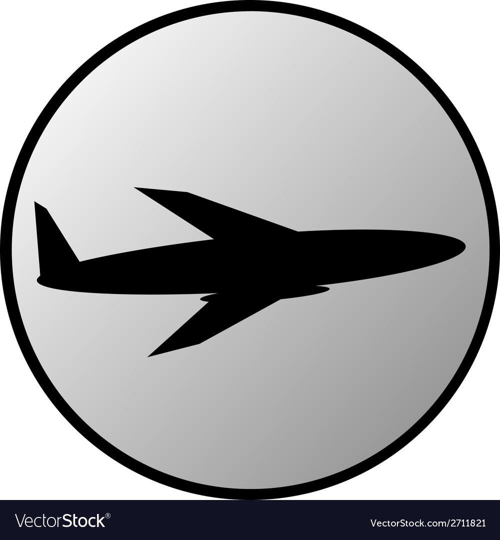 Plane button vector | Price: 1 Credit (USD $1)