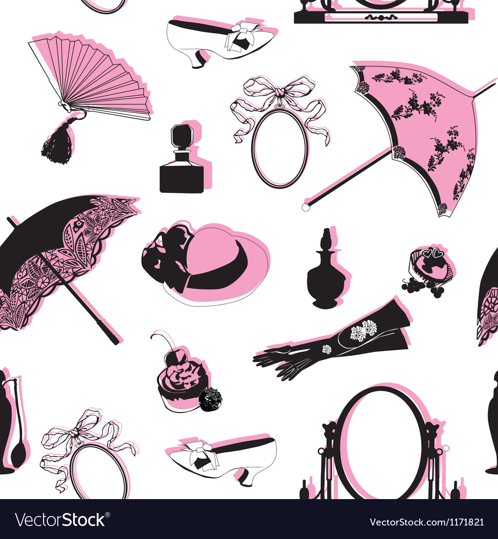 Seamless background with retro objects vector | Price: 1 Credit (USD $1)