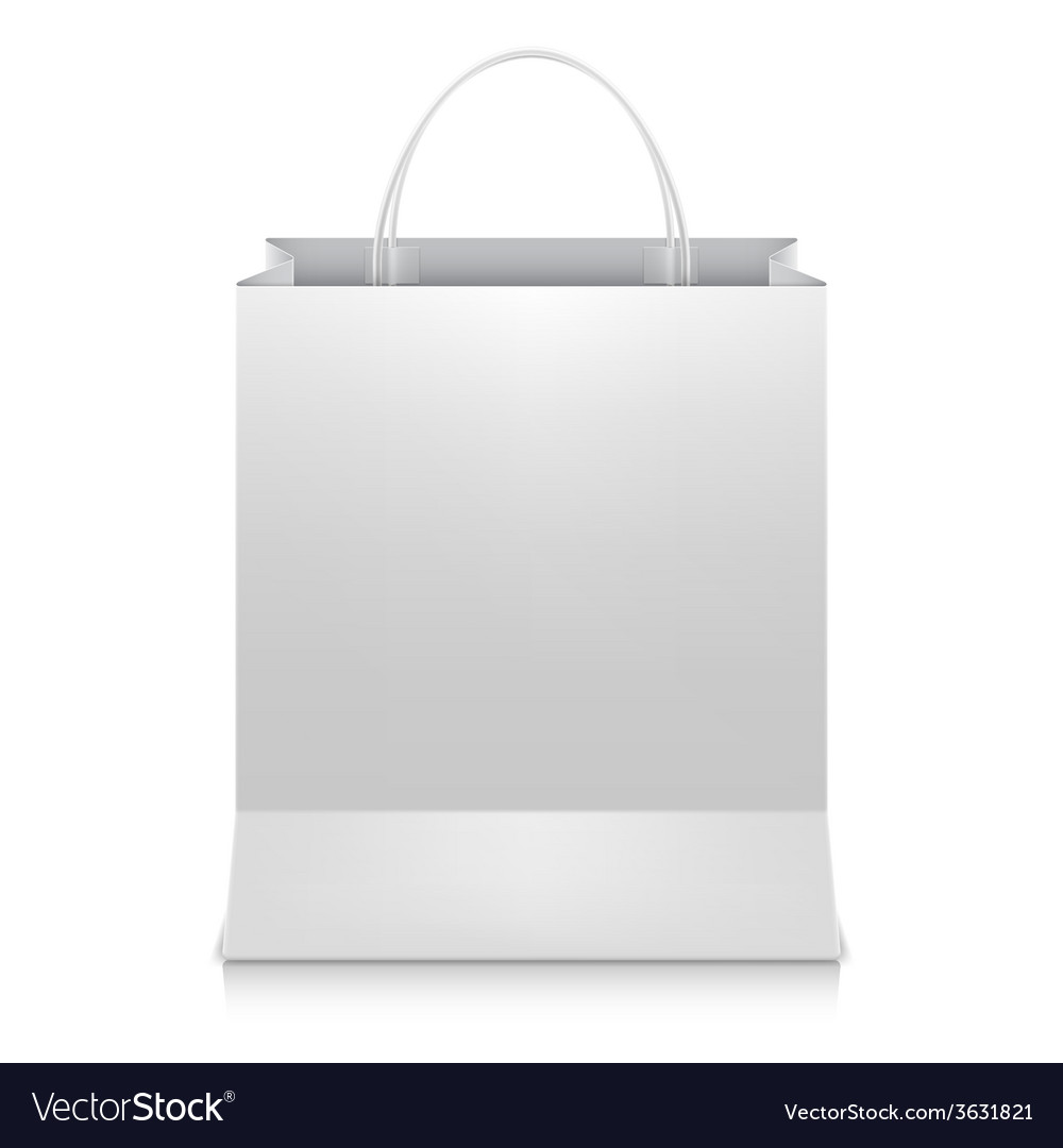 White shopping bag vector | Price: 1 Credit (USD $1)