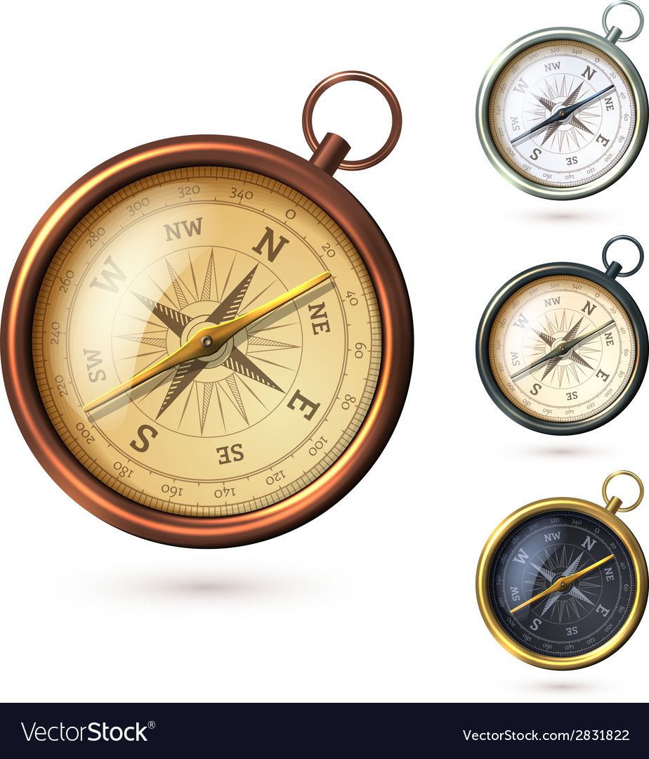 Antique compass set vector | Price: 1 Credit (USD $1)