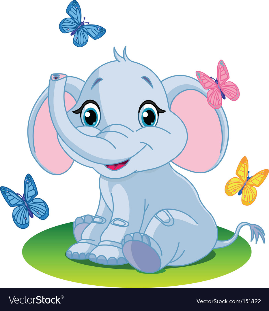 Baby elephant vector | Price: 3 Credit (USD $3)
