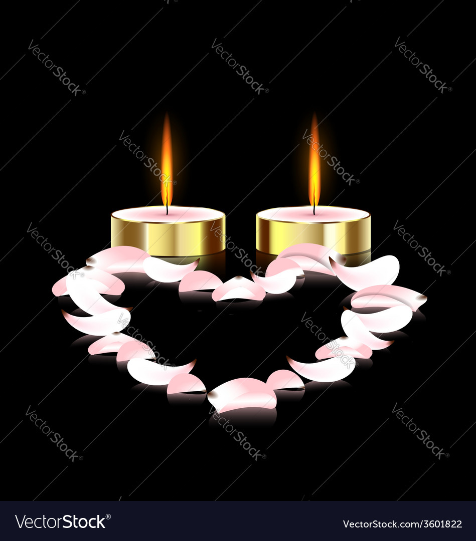 Candles and heart vector | Price: 1 Credit (USD $1)