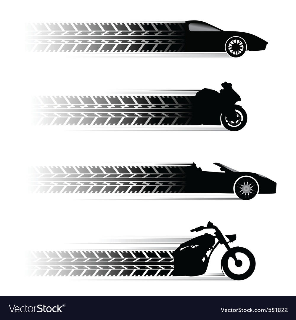 Car and motorbike symbols vector | Price: 1 Credit (USD $1)