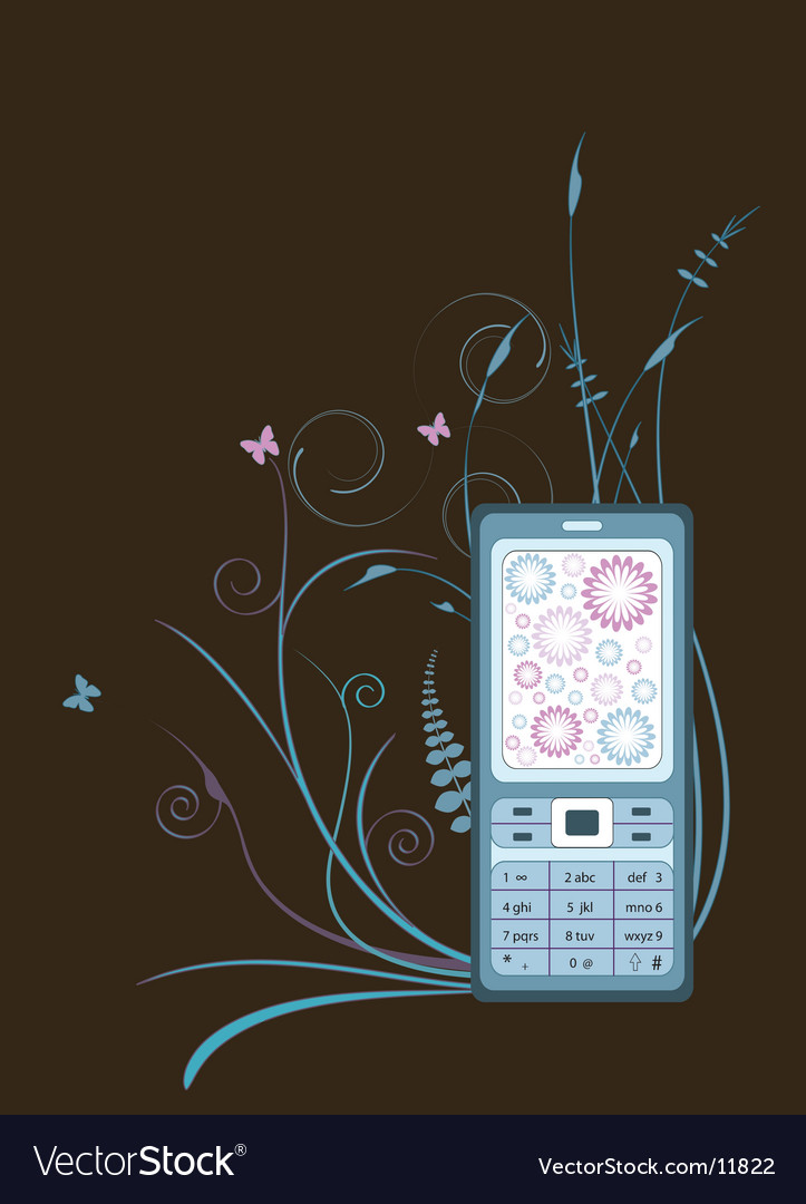 Cellphone graphic vector | Price: 1 Credit (USD $1)
