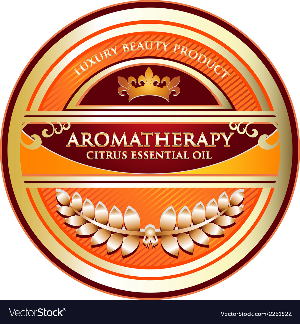 Citrus essential oil aromatherapy label vector | Price: 1 Credit (USD $1)