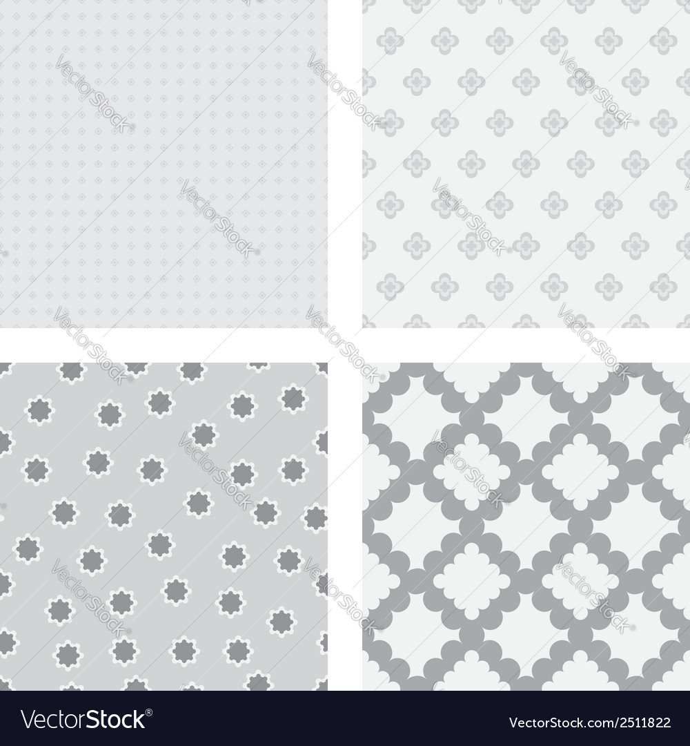 Grey flower backgrounds vector | Price: 1 Credit (USD $1)