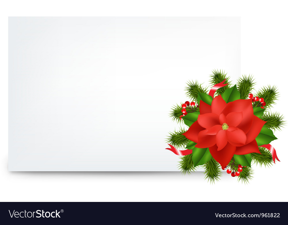 Pointsettia note vector | Price: 1 Credit (USD $1)