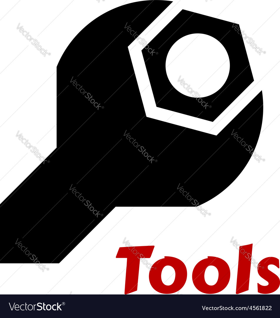 Spanner or wrench tool icon vector | Price: 1 Credit (USD $1)