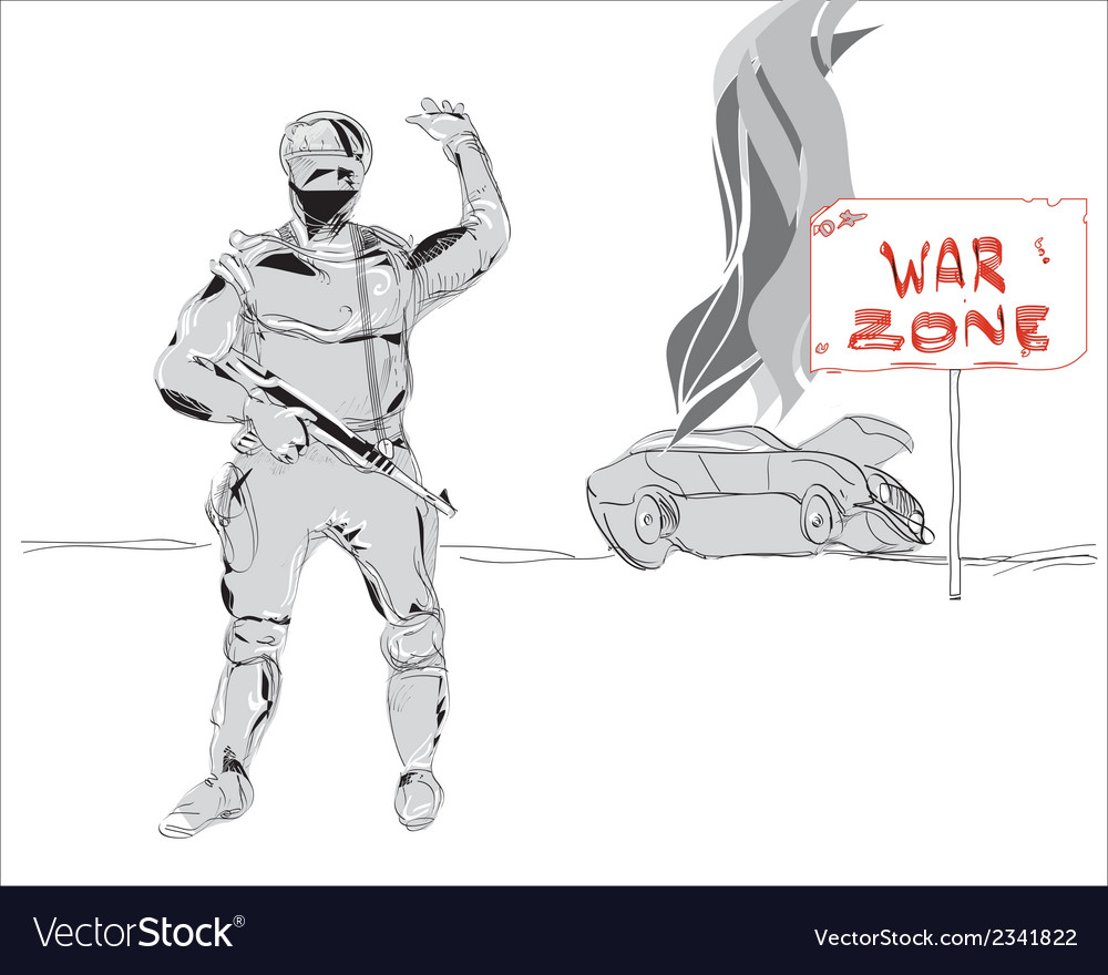 War zone vector | Price: 1 Credit (USD $1)