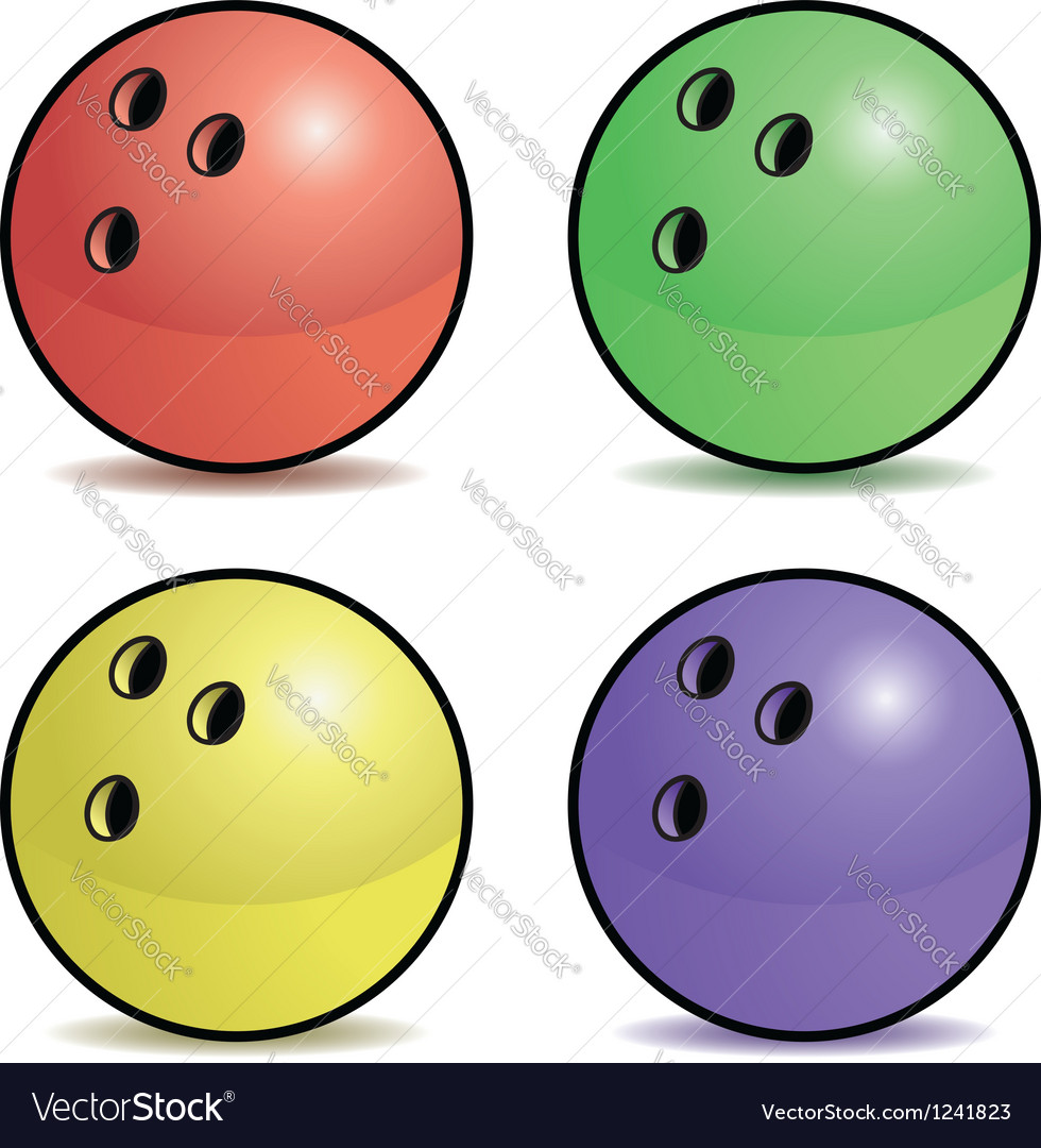 Bowling ball set vector | Price: 1 Credit (USD $1)