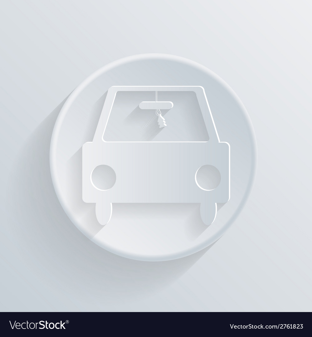 Circle icon with a shadow car vector   Price: 1 Credit (USD $1)