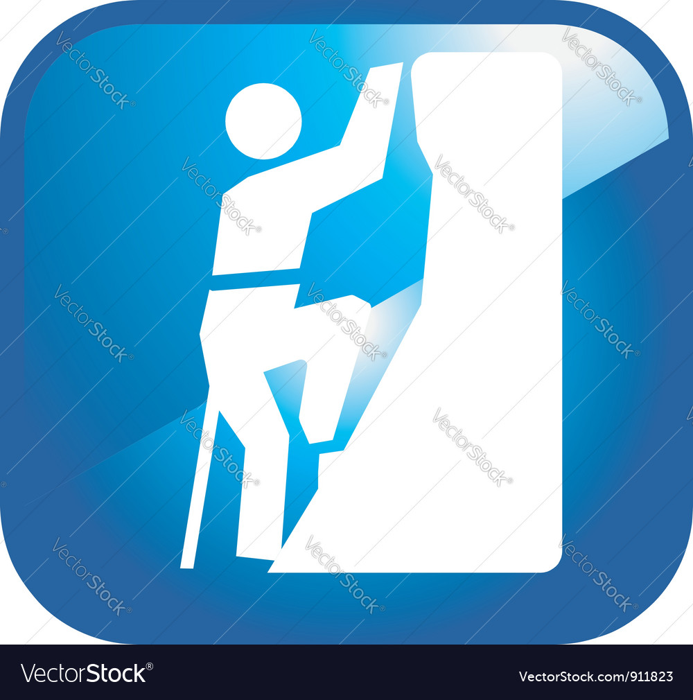 Climbing icon vector | Price: 1 Credit (USD $1)