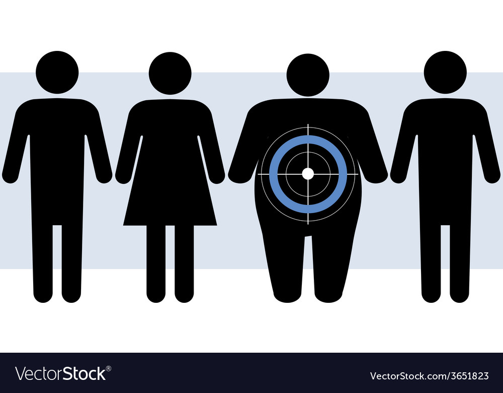 Diabetes targets overweight people vector | Price: 1 Credit (USD $1)