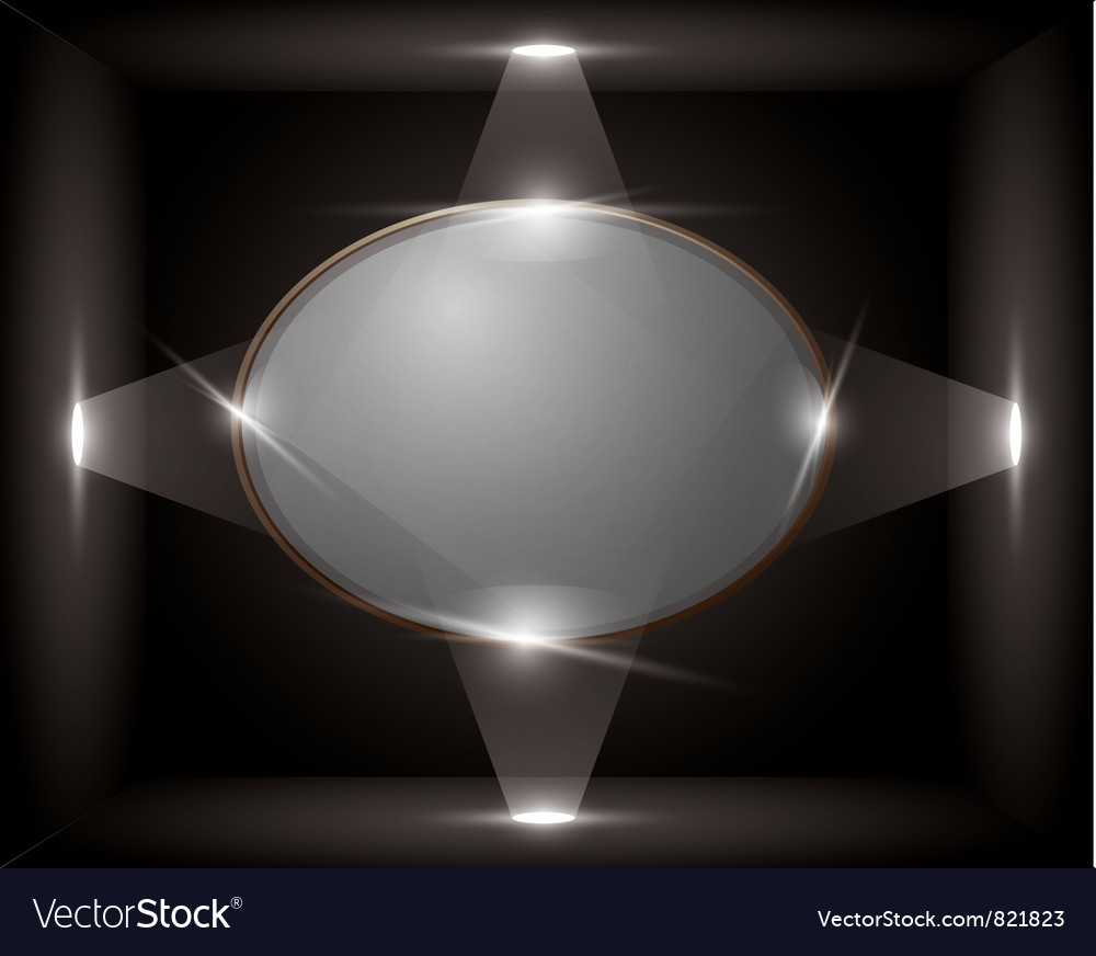 Empty frame in a cube vector | Price: 1 Credit (USD $1)