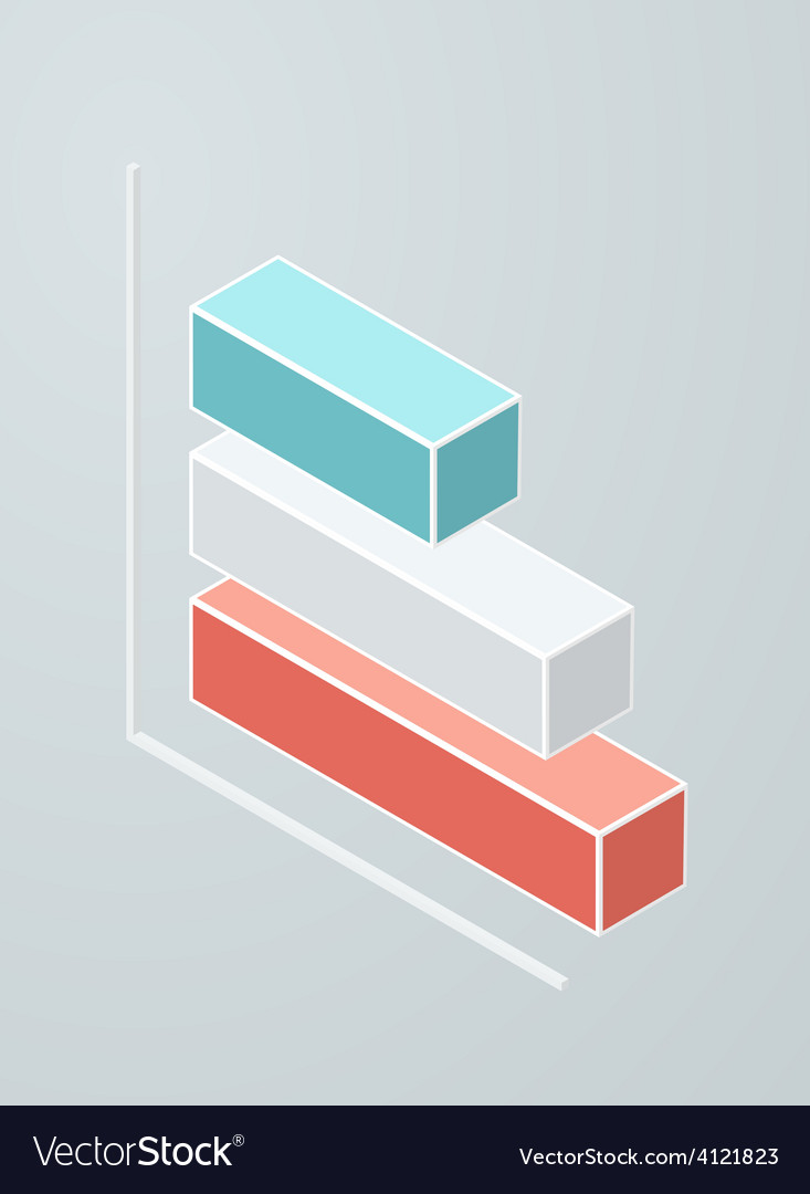 Isometric bar chart icon vector | Price: 1 Credit (USD $1)