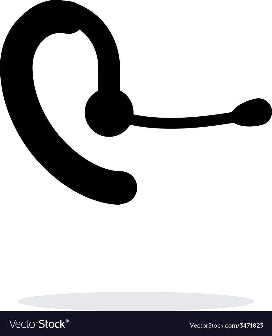 Phone headset icon on white background vector | Price: 1 Credit (USD $1)