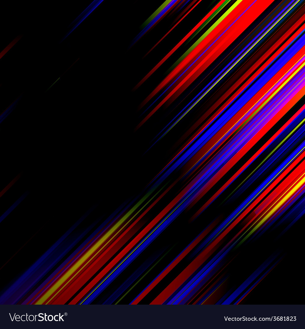 Striped abstract design on dark background vector   Price: 1 Credit (USD $1)