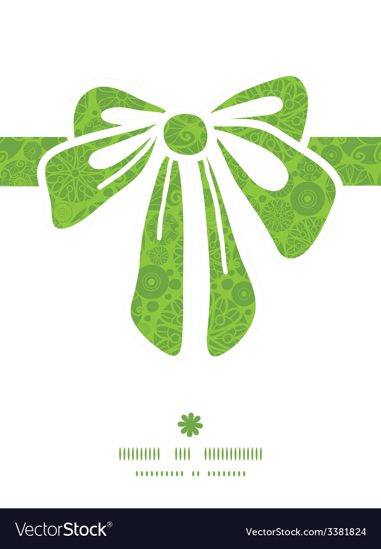 Abstract green and white circles gift bow vector | Price: 1 Credit (USD $1)