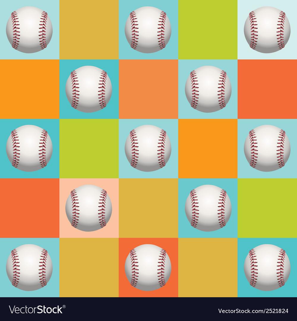 Baseball pattern background vector | Price: 1 Credit (USD $1)