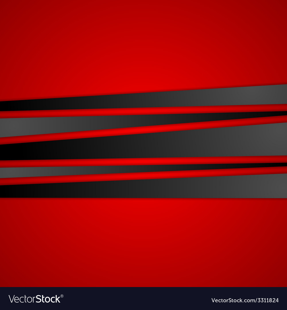 Black stripes on red background vector | Price: 1 Credit (USD $1)