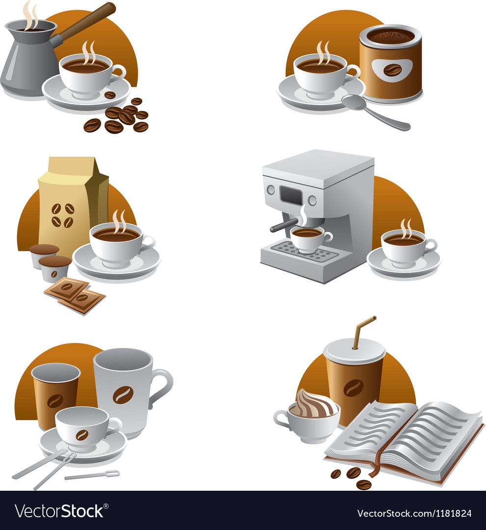Coffee icons vector | Price: 3 Credit (USD $3)