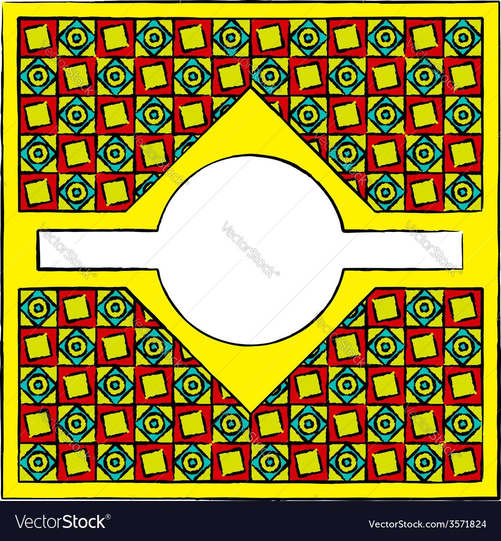 Drawn cubism ornamental frame vector | Price: 1 Credit (USD $1)
