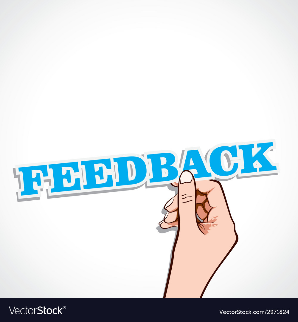 Feedback word in hand vector | Price: 1 Credit (USD $1)