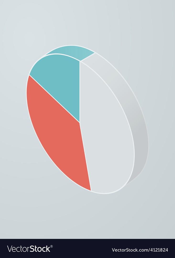 Isometric pie chart icon vector | Price: 1 Credit (USD $1)