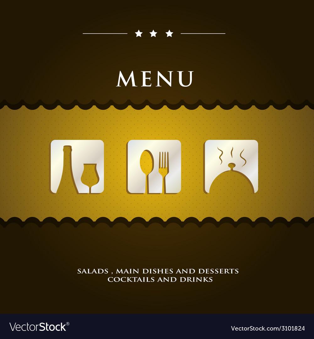 Modern restaurant menu vector | Price: 1 Credit (USD $1)