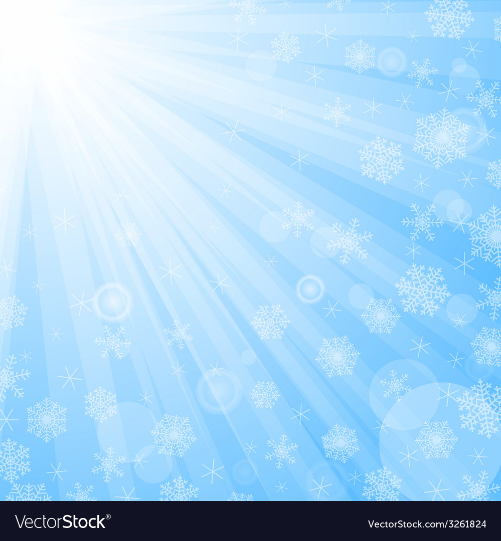 Sun beams and snowflakes vector   Price: 1 Credit (USD $1)
