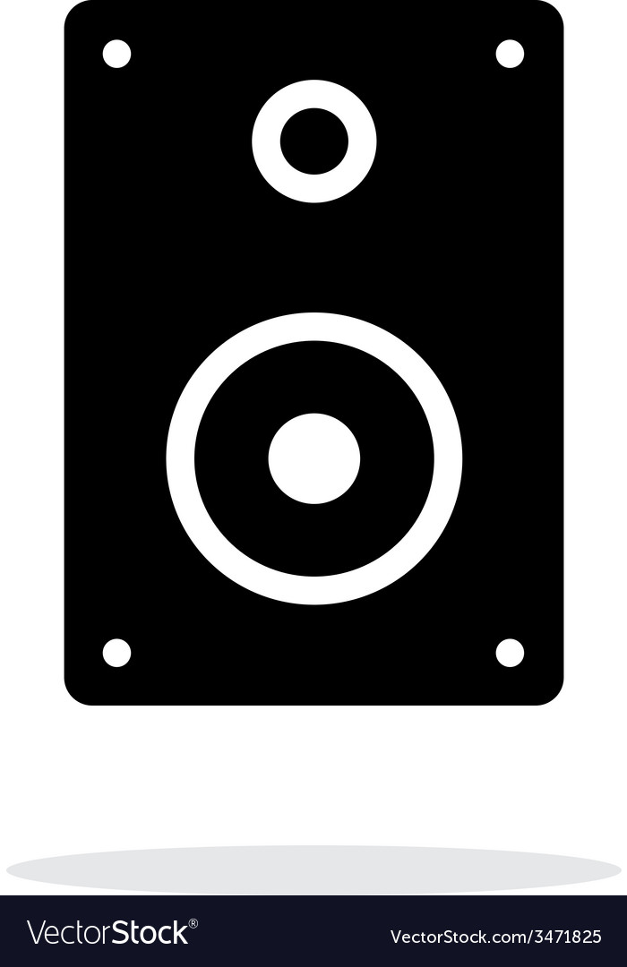 Audio speakers icon on white background vector | Price: 1 Credit (USD $1)