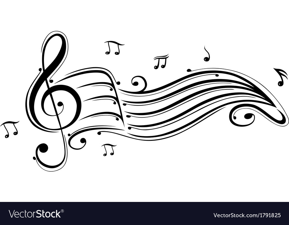 Clef music notes vector | Price: 1 Credit (USD $1)