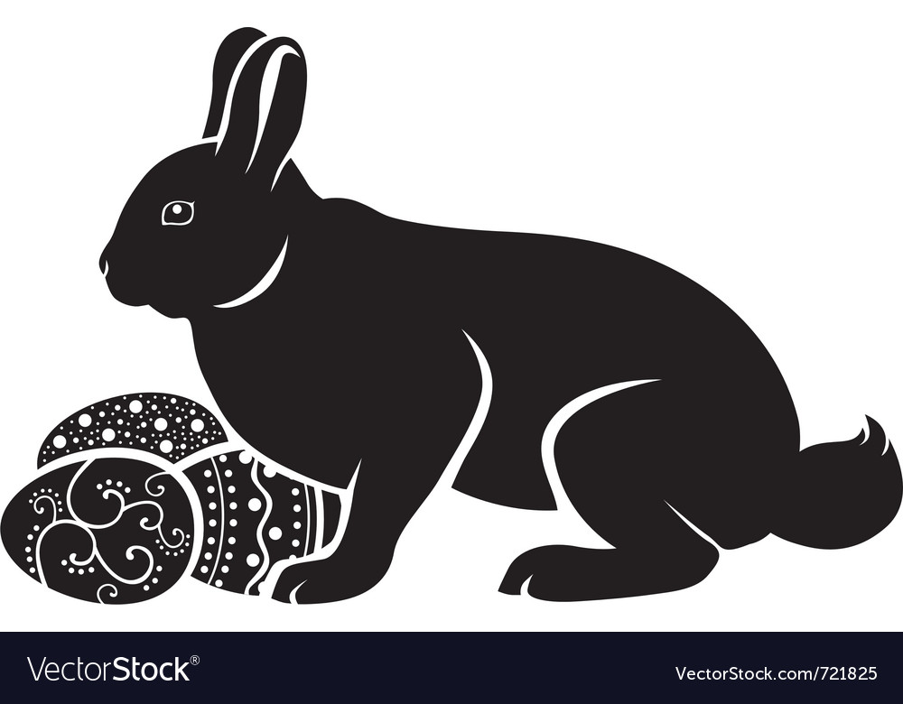 Easter bunny hatches vector | Price: 1 Credit (USD $1)