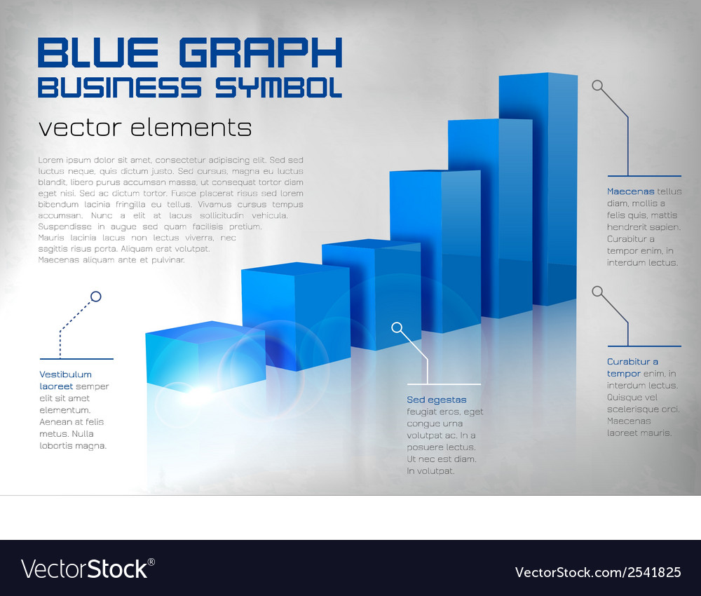 Graph blue vector | Price: 1 Credit (USD $1)