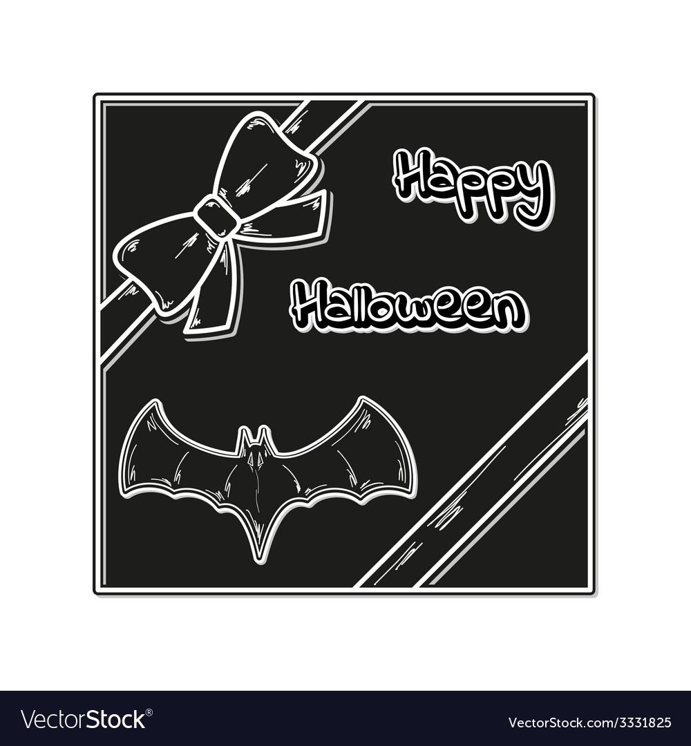 Happy halloween gift card vector | Price: 1 Credit (USD $1)