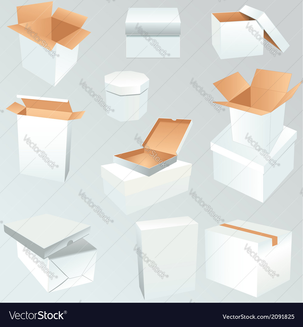 Package boxes set vector | Price: 1 Credit (USD $1)