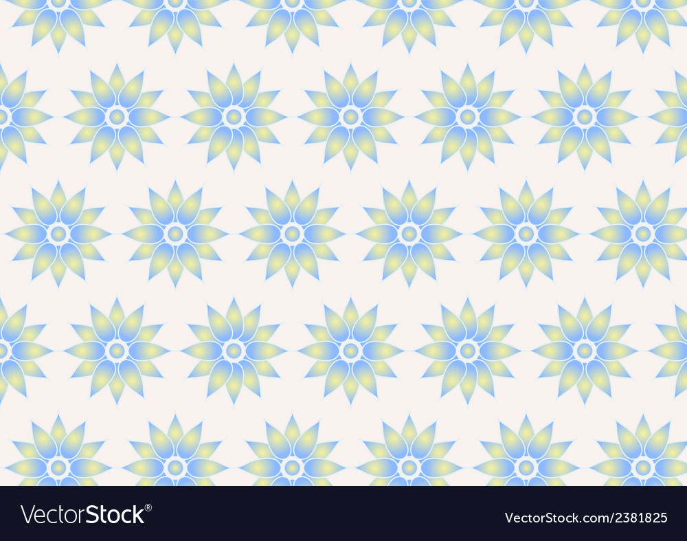 Retro flower pattern on pastel color vector | Price: 1 Credit (USD $1)