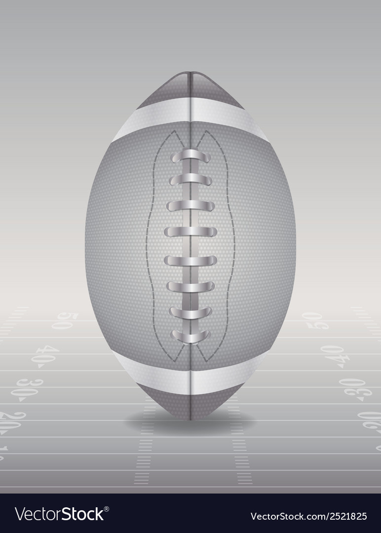 Silver football and field vector | Price: 1 Credit (USD $1)