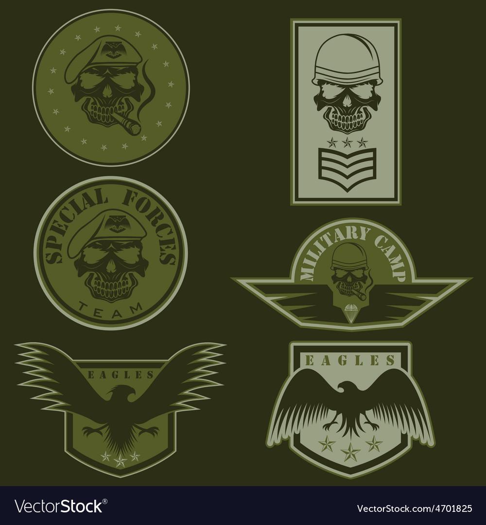 Special unit military emblem set design template vector   Price: 1 Credit (USD $1)