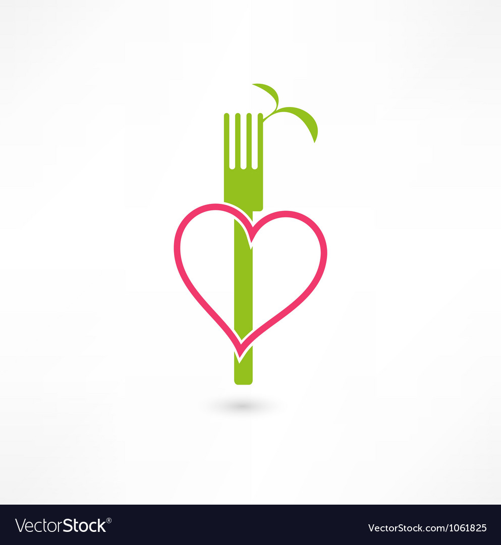 Vegetarian sign vector | Price: 1 Credit (USD $1)