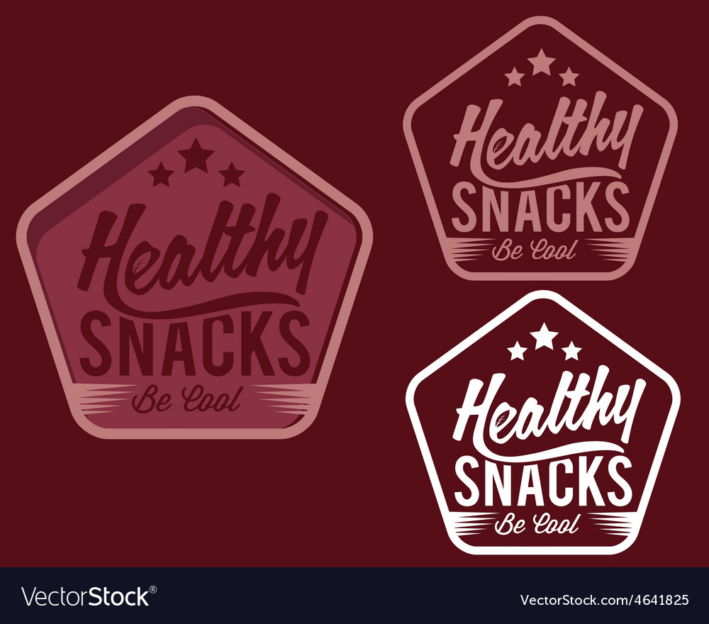 Vintage emblem healthy snaks vector | Price: 1 Credit (USD $1)