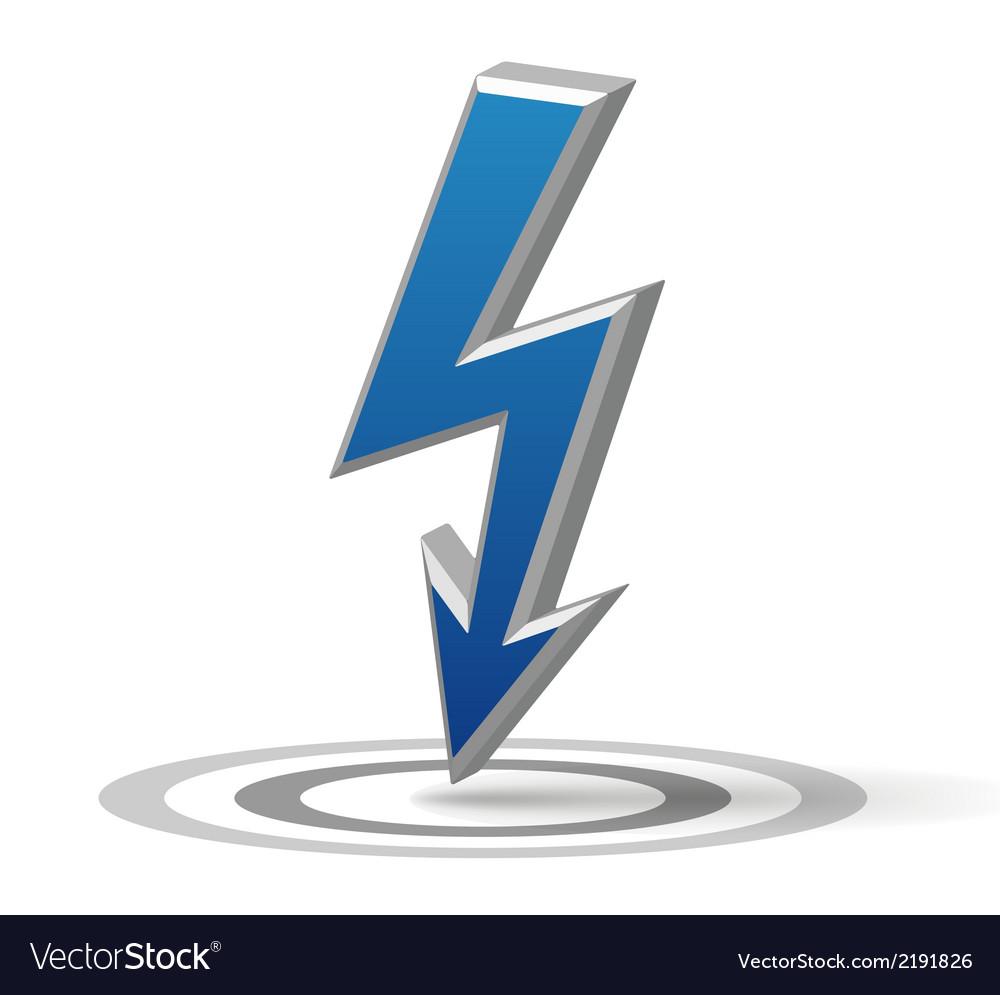 Blue flash arrow vector | Price: 1 Credit (USD $1)