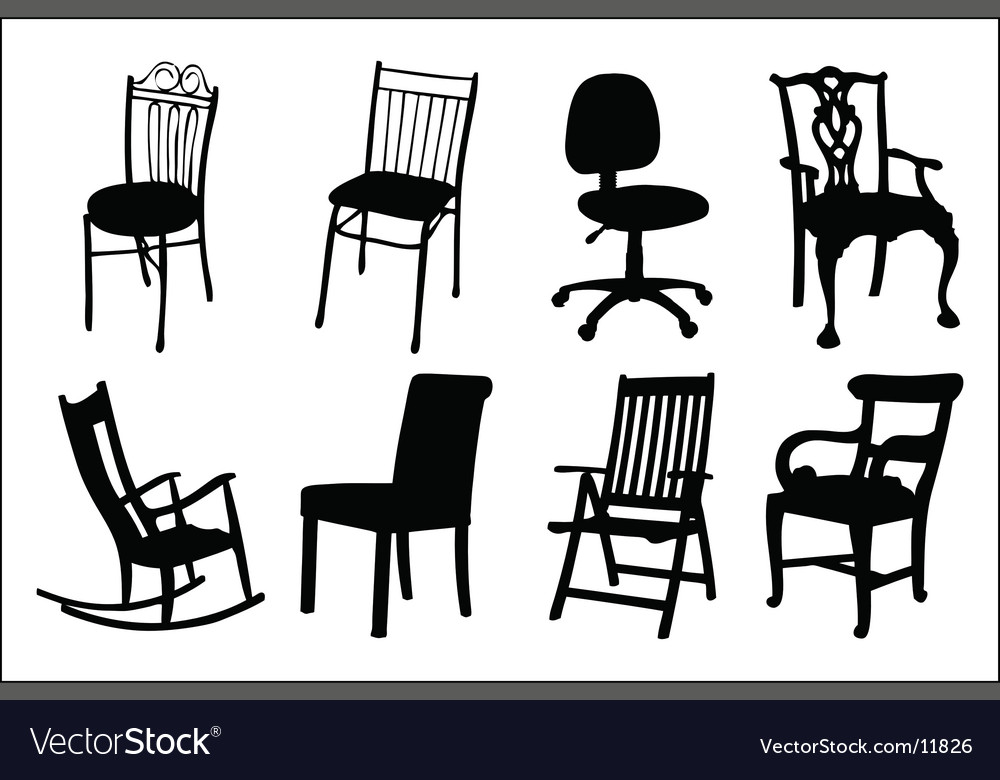 Chair silhouettes vector | Price: 1 Credit (USD $1)