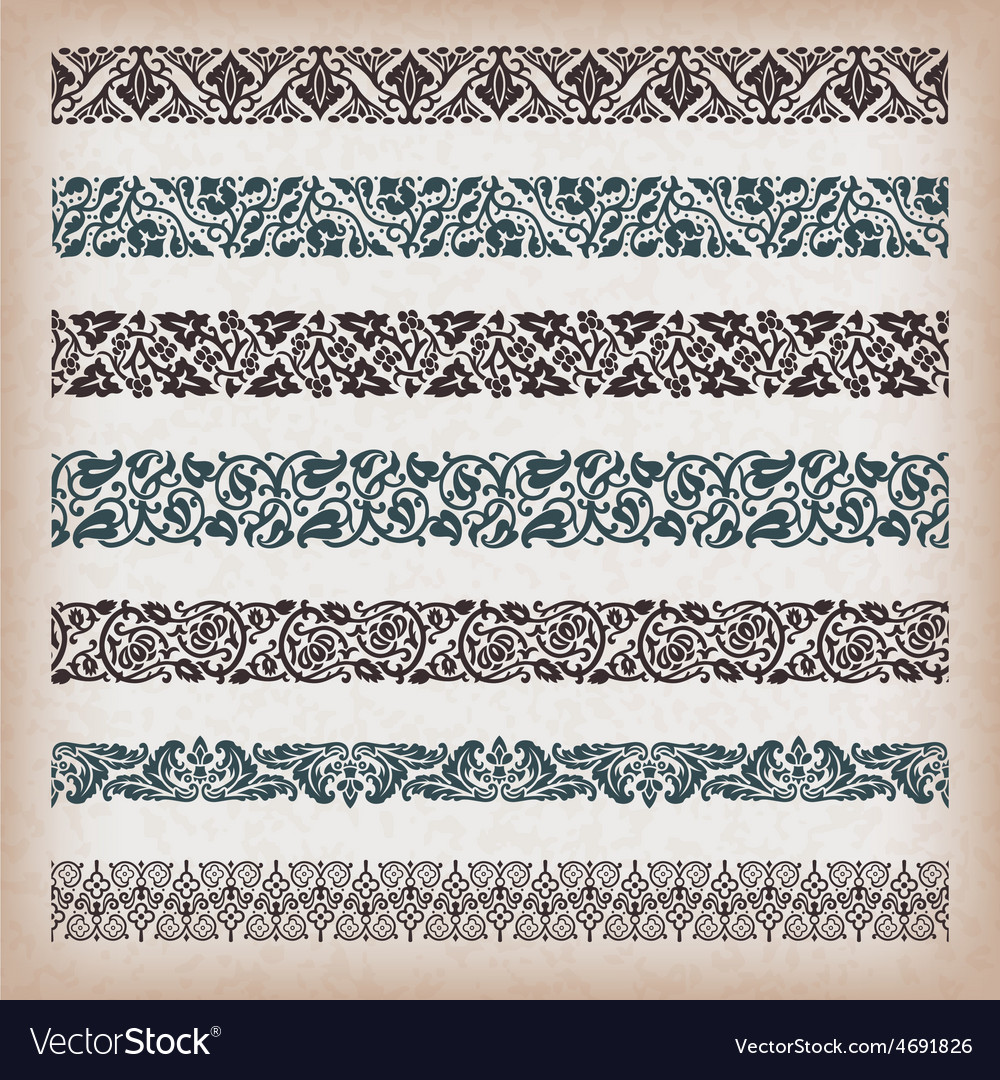 Decorative vintage borders vector | Price: 1 Credit (USD $1)