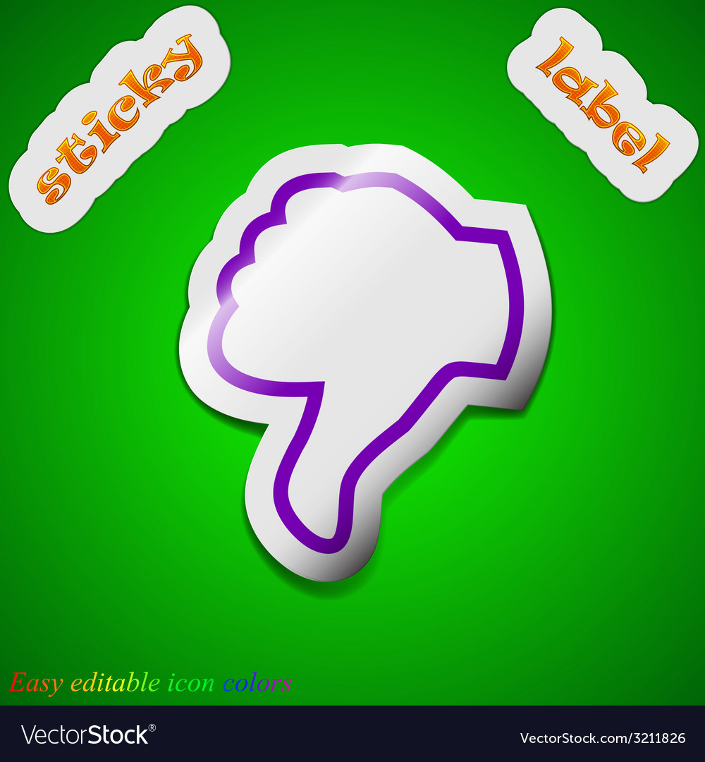 Dislike thumb down icon sign symbol chic colored vector | Price: 1 Credit (USD $1)