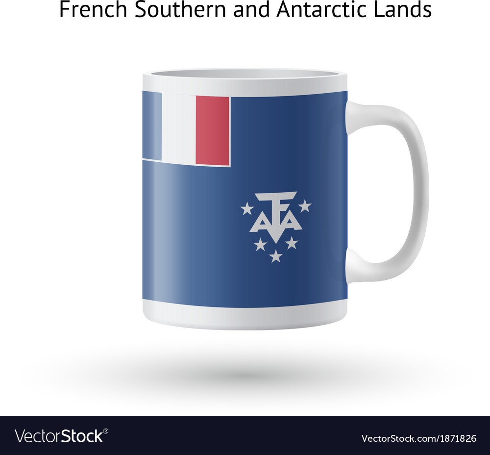 French southern and antarctic lands flag souvenir vector | Price: 1 Credit (USD $1)